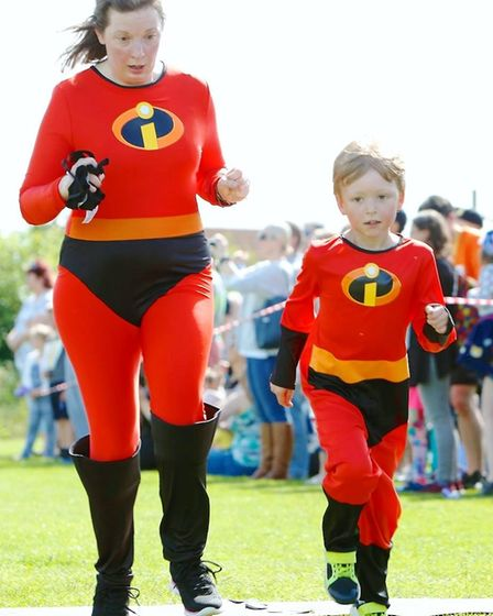 Adults and children took part together in the Sutton Beast event. Picture: IAN STACEY