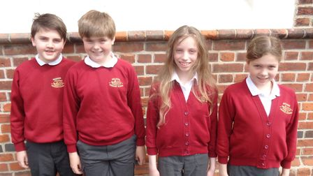 Felsted Primary School's victorious maths team. Picture: CONTRIBUTED