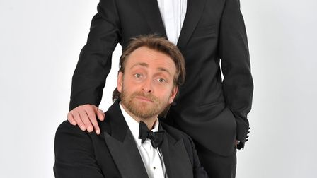 Tim FitzHigham and Duncan Walsh Atkins as Flanders and Swann