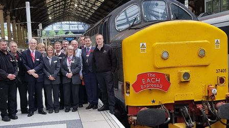 Charity charter train which ran from Norwich to Ely raises £22,000 for East Anglia's Children's Hosp