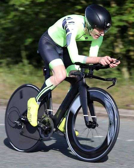 John Manlow finished in under an hour at the VTTA National Championships on Sunday. Picture: DAVEY J