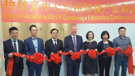 Cllr Count officially opens the new Cambridgeshire office in Yangzhou City, China. Picture: CAMBRIDG