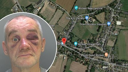 Christopher Wing (pictured) has been jailed after stabbing one of his ex-wifes friends in what polic
