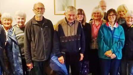 Cambridgeshire historian Mike Petty (sixth from left) attended this month's March Society event. Pic