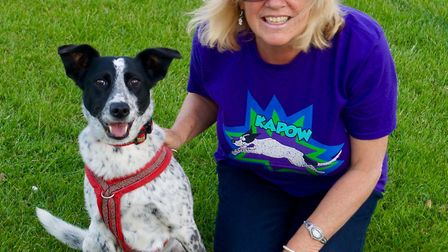 Izzy with owner of the K9 Project, Chris Kent. Picture: CHRIS KENT