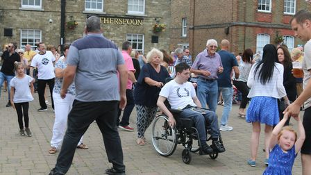 Hundreds of people enjoyed the sounds of headliners The Fedz and Stevie H at Whittlesey Music Festiv
