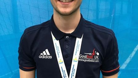 Joe Roper after winning bronze at the European Para Youth Games in Finland. Picture: OLIVER LEWIS