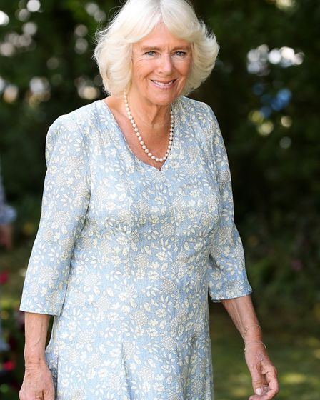 A helicopter carrying the Duchess of Cornwall (pictured) was involved in a near miss south of Wisbec