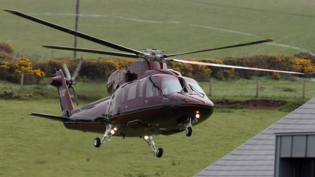 A helicopter carrying the Duchess of Cornwall was involved in a near miss south of Wisbech with a de