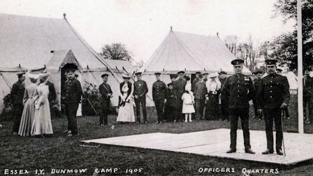 Prize giving day at the Essex Yeomanry camp in Little Easton, 1905. Picture: CONTRIBUTED