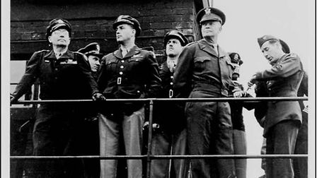 General Eisenhower's visit to Easton Lodge in April 1944, a month before D-Day. Picture: CONTRIBUTE