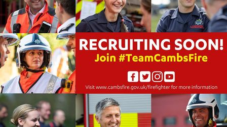 Are you considering a career in the fire service? Then this event is perfect for you. Picture: Cambs