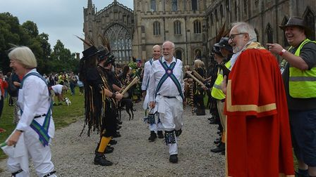 Big crowds turned out for the 2019 Morris and molly procession through the city of Ely, a tradition