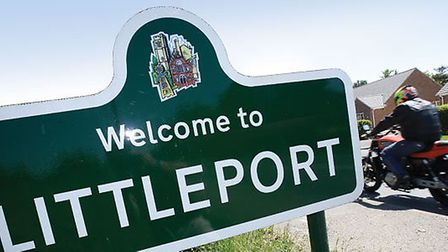 Welcome to Littleport sign. But not everyone is happy today and especially not a mum whose 12-year-o