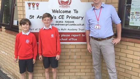 Two pupils from Soham will finish term a cut above the rest as they brave the shave for charity. Pic