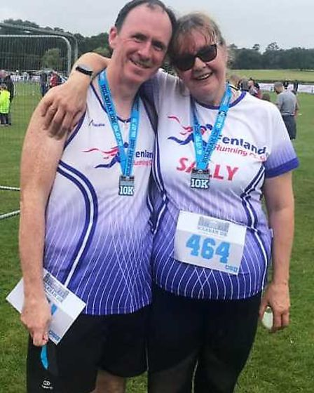 Ian and Sally King at the Holkham 10k. Picture: FENLAND RUNNING CLUB