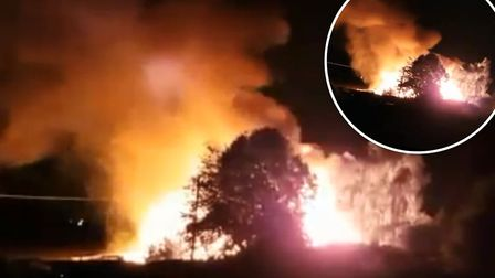 Footage from the blaze which took place at around 3am this morning (July 8) at Ramsey Road in Ponder
