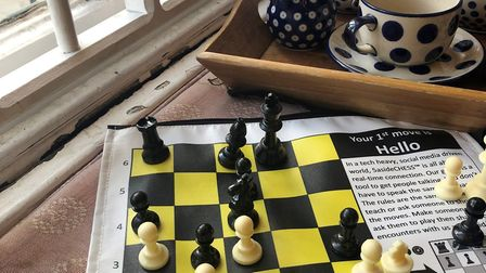 Enjoy a short game of chess and make new friends at Toppings book shop in Ely. Picture: 5ASIDECHESS