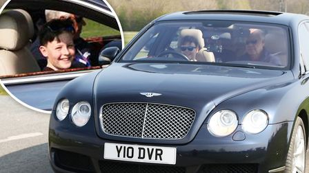 This Bentley Flying Spur, worth around 130,000, can be driven by children as young as 10-years-old w