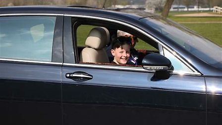 This Bentley Flying Spur, worth around £130,000, can be driven by children as young as 10-years-old