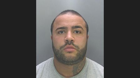 Adam Hubbard of Beck Row (pictured) has been jailed for 12 months after he strangled his ex-partner