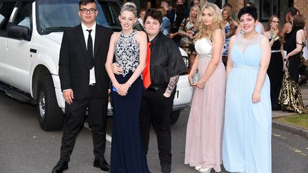 Glitzy! Neale-Wade Academy students arriving at the schools annual Year 11 leavers prom. Picture: Ia