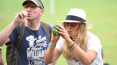 Sally Redman-Davies. The annual Pea Shooting World Championship raised more than 2,500 for the Witch