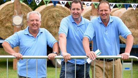 Mick Housden, Phil Scotting and Nigel Phillips. The annual Pea Shooting World Championship raised mo