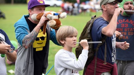 The annual Pea Shooting World Championship raised more than 2,500 for the Witcham Village Hall. Pict