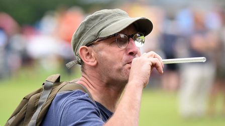 Steve Lowson. The annual Pea Shooting World Championship raised more than 2,500 for the Witcham Vill