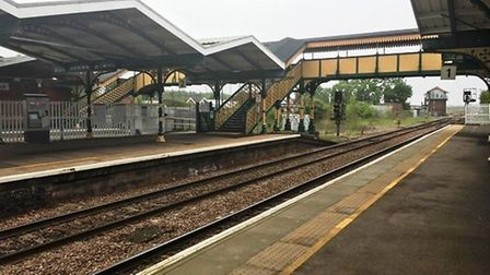 March rail station is set to benefit from upgraded cycle facilities. Picture: HARRY RUTTER