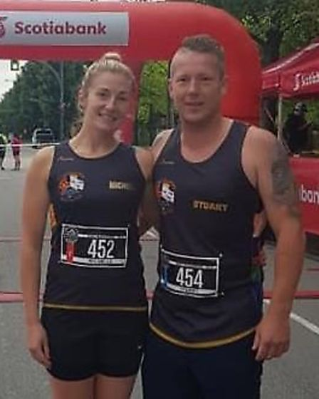 It's a family affair for Three Counties Running Club: Vancouver Half Marathon Michelle And Stuart