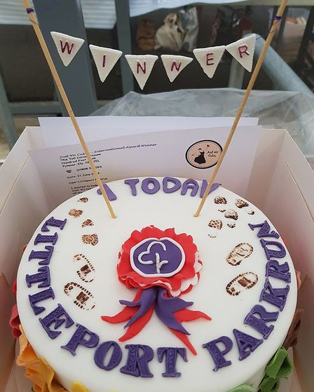 Littleport Parkrun first anniversary: this cake was made by Clair Marie Mackness of Just4U Cakes. Pi