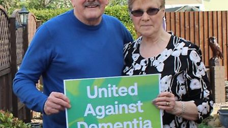 Ex-Posh player Peter Hindley with his wife Sandra. Picture: ALZHEIMER'S SOCIETY