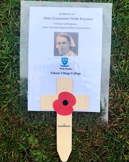 Soham Village College honours D-Day hero Mollie Evershed in Normandy. Picture: SOHAM VILLAGE COLLEGE