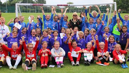 Aspiring female footballers competed in the second Inter School Girls Festival, which was organised