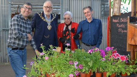 Flowers and friendship at horticultural charity EARTH in Ely as mayor visits. Picture: MIKE ROUSE