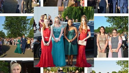Ely College Year 11 Prom at the Maltings, Ely. Collage: MIKE ROUSE