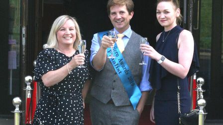 Pictures from the red carpet at the Ely Hero Awards 2019 held at The Maltings in the city on Monday,