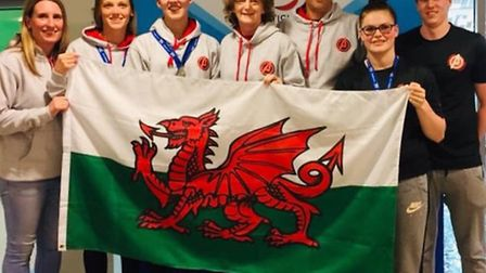 Dunmow Atlantis swimmers at the British Masters Championships in Cardiff