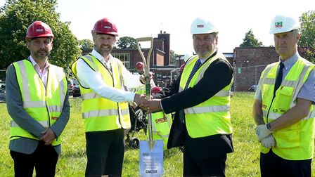Paul Hutchinson, Framework Director for R G Carter who are undertaking the building work, was joined