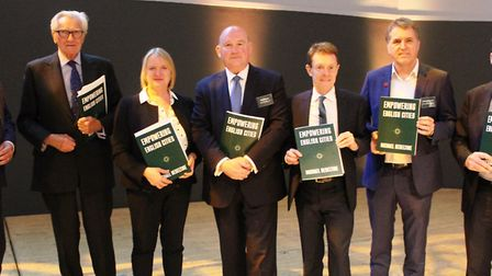Mayor James Palmer at the launch of a report by Lord Heseltine in Birmingham titled 'Empowering Engl