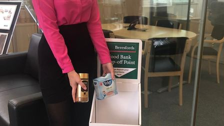 You can bring non-perishable items of food to Beresfords on High Street. Picture: BERESFORDS
