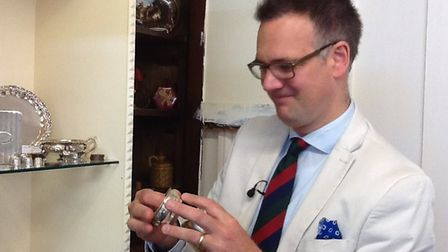 Charles Hanson visited St Mary's Antiques in Ely to film a new episode of the BBC series Antiques Ro