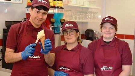 On the hottest day of the day, Ely welcomed its newest shop - an Italian ice cream parlour. Hadisgel