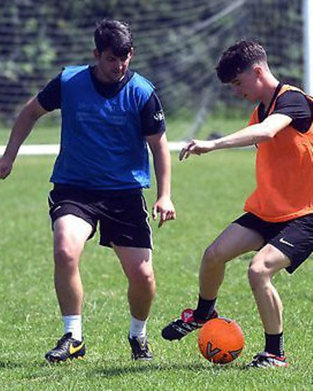 March Town in pre-season training as they prepare for the 2019/20 campaign. Picture: IAN CARTER