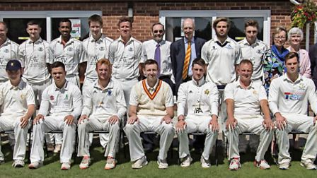 March Town Cricket Club staged a historic match between the MCC and a March Grammar School Old Boys