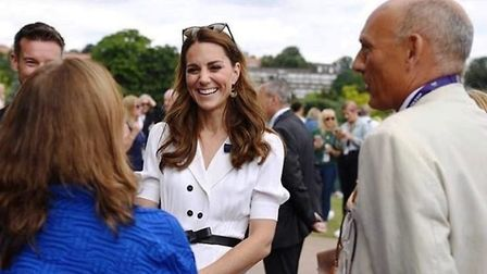 Simon was congratulated by the Duchess of Cambridge after winning the National Lifetime Achievement