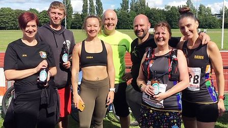 Team Lincolnshire at the Green Wheel Relay in Peterborough. Picture: SARAH-JANE MACDONALD