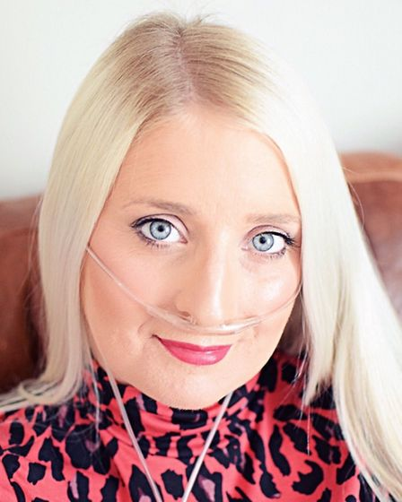 Brave mother-of-three Rachel Clements from Cambridgeshire who is battling an incurable form of lung